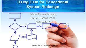 Using data for educational system redesign link
