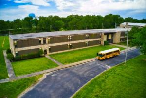Overhead picture of Bolivar Middle School captured by a drone.