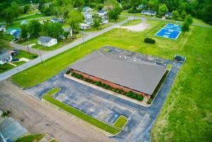 Overhead picture of the Hardeman County School's Learning Center.