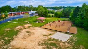 Overhead picture of Toone Elementary and the playground.