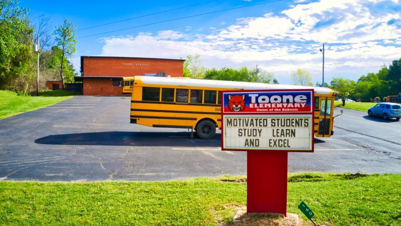 Landscape View facing Toone Elementary School