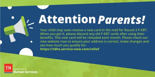 Parent Portal is now open for P-EBT Round 3