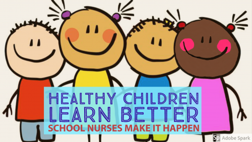 Healthy Children Learn Better, School Nurses Make It Happen - 4 children clip art