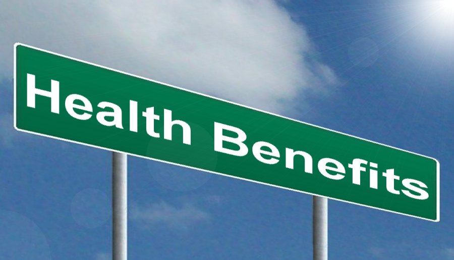 Picture of street sign saying Health Benefits