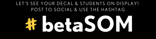 Banner of Beta School of Merit decal