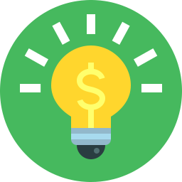 light bulb icon with dollar symbol