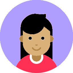 purple icon with girl face