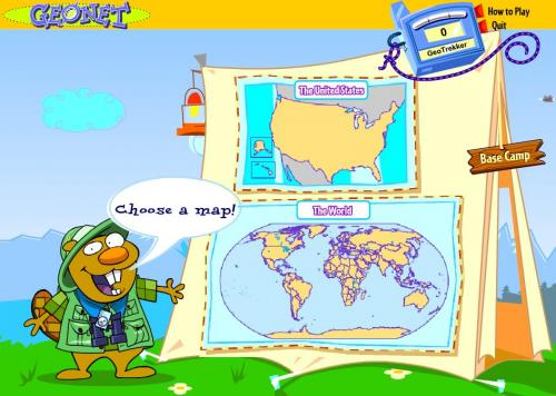 screenshot of game with maps and gopher
