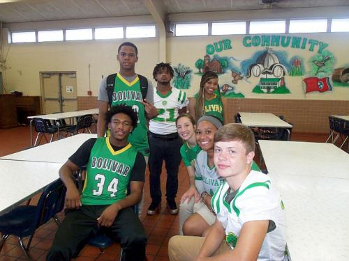 student athletes from bolivar central high school