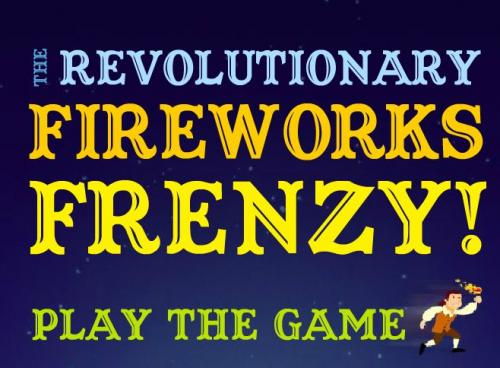 words: the revolutionary fireworks frenzy! play the game with an animated paul revere