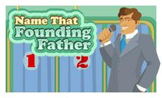 name that founding father words with animated game show host