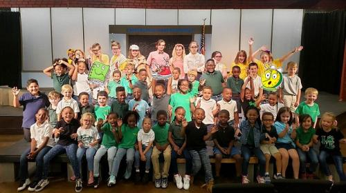 first graders at the theater
