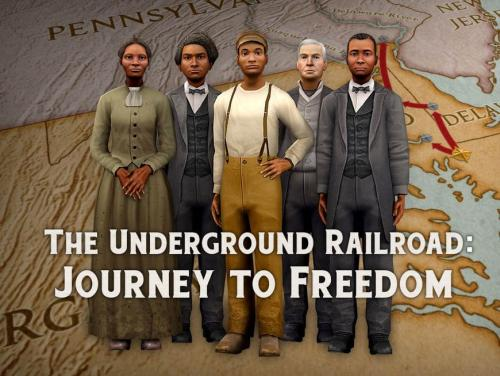 animated photo of slaves with the words: the underground railroad: journey to freedom