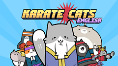 karate cats logo - cats with karate clothes