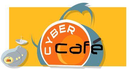 cyber cafe logo