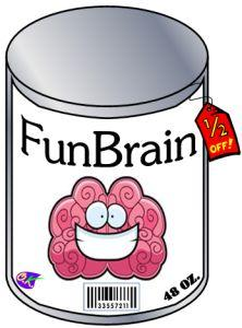 cartoon brain in a can