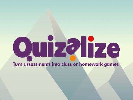 quizalize logo on mountains
