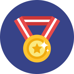 medal with ribbon icon