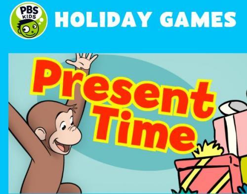 cartoon monkey with presents