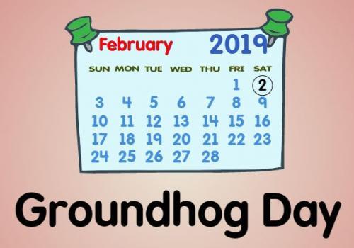 february calendar cartoon