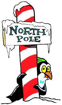 penguin with north pole cartoon