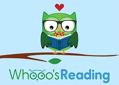 green cartoon owl with book