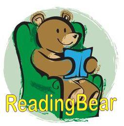 bear reading in a chair