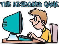 boy typing at computer