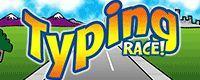typing race logo