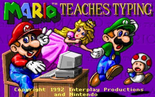 mario at a computer with luigi and princess peach and mushroom