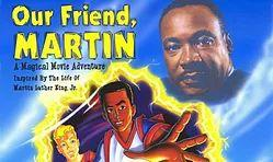 martin luther king with cartoon boys
