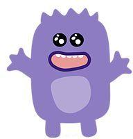 PURPLE MONSTER WITH OPEN MOUTH