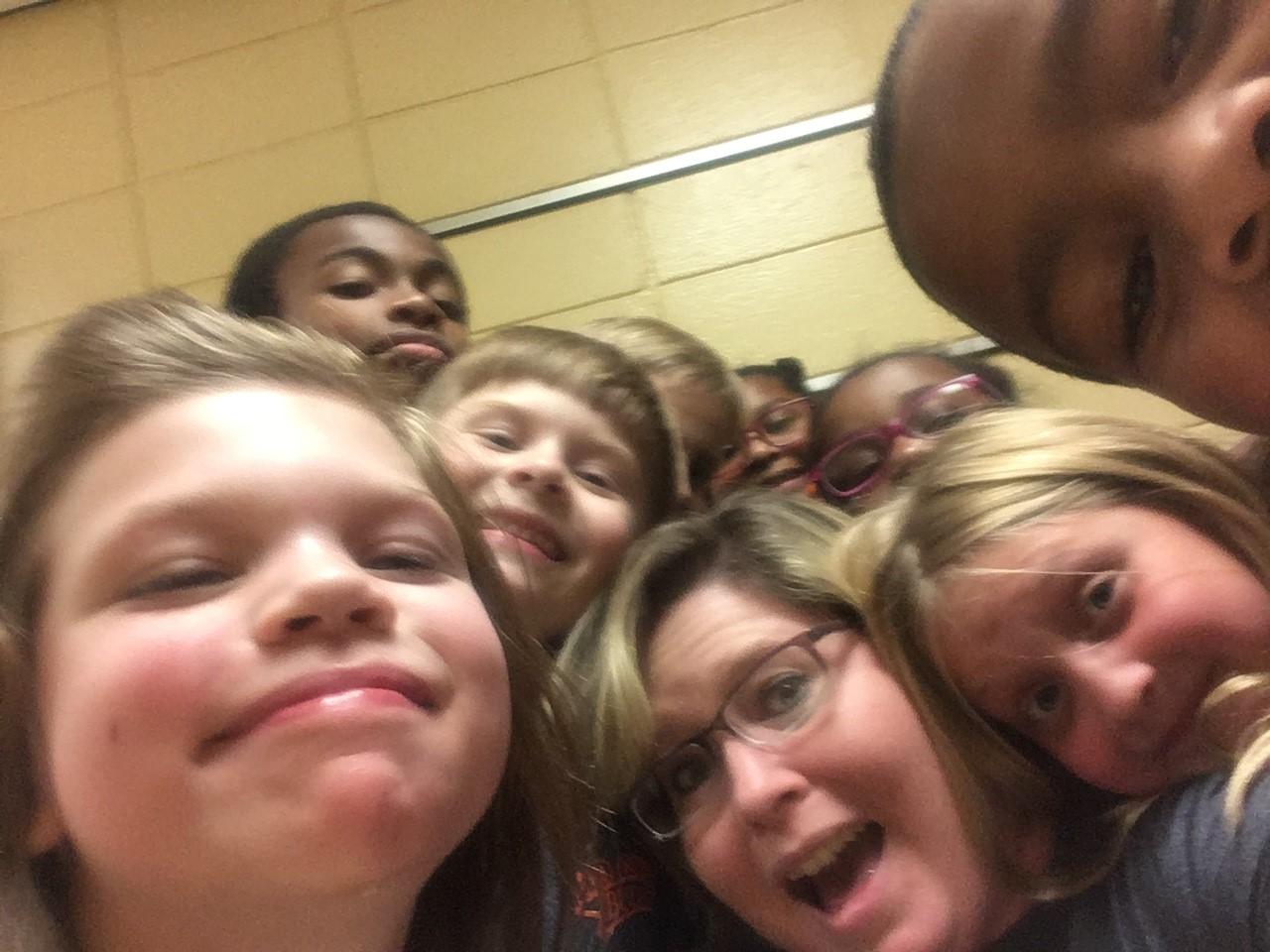 Mrs. Kimberly's scavenger hunt group!