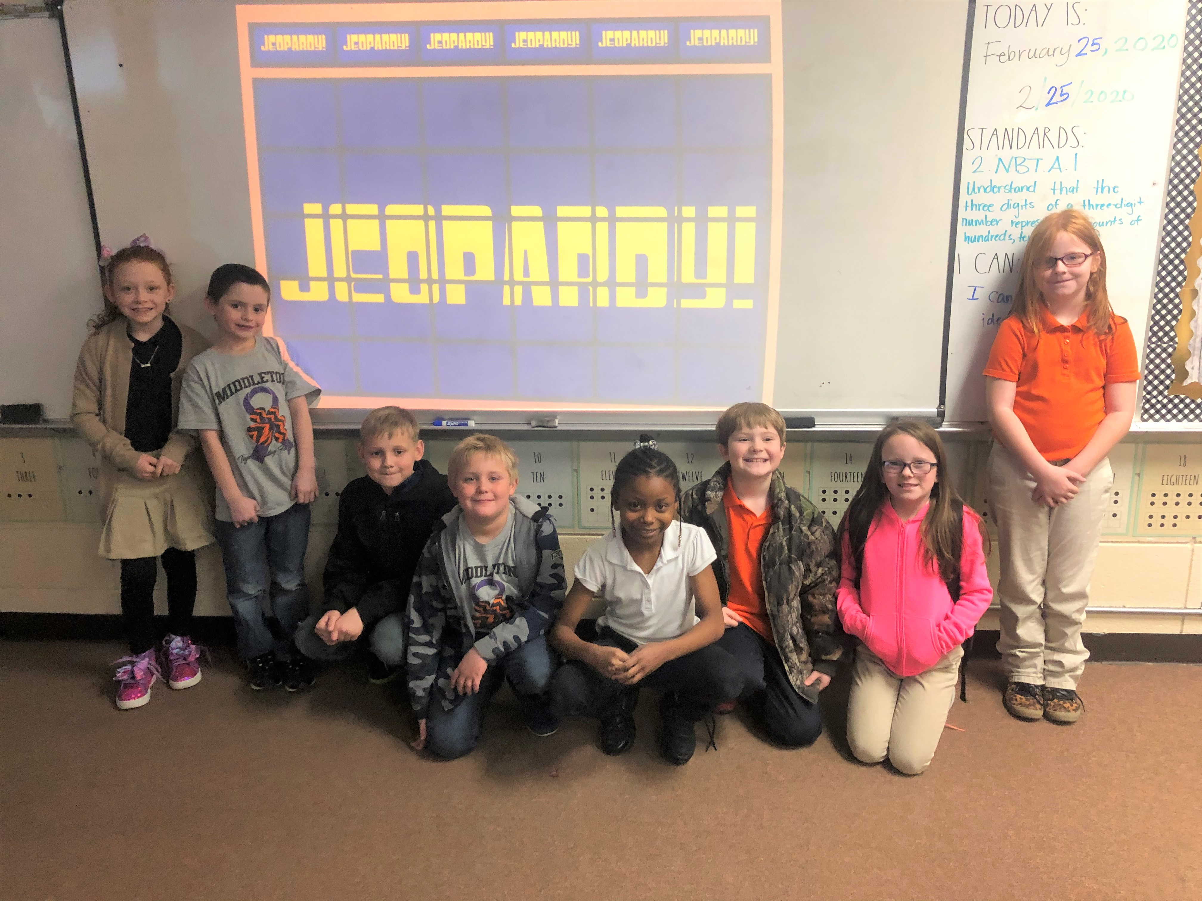 2nd graders playing JEOPARDY!!
