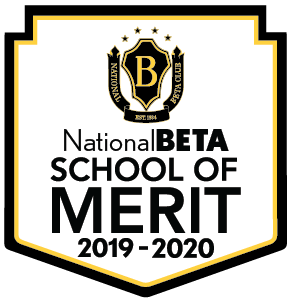 Clip art of Beta Club School of Merit.