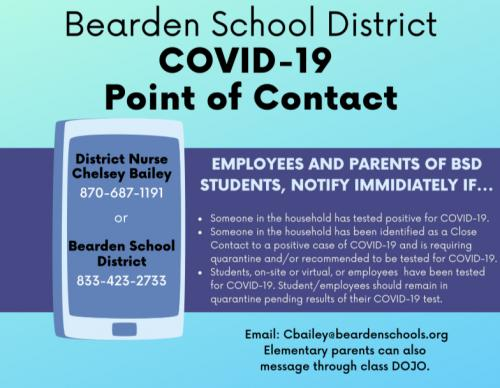 Image of Covid Point of Contact for Bearden School District