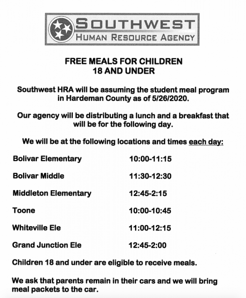 Southwest Meal Info