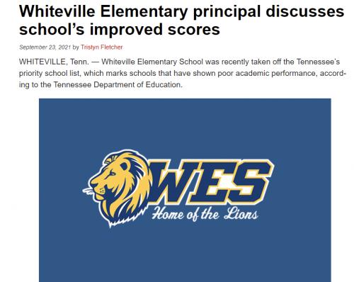 WBBJ news article about Principal Crisp