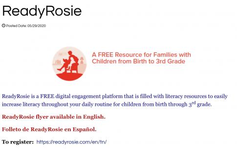 Ready Rosie reading site