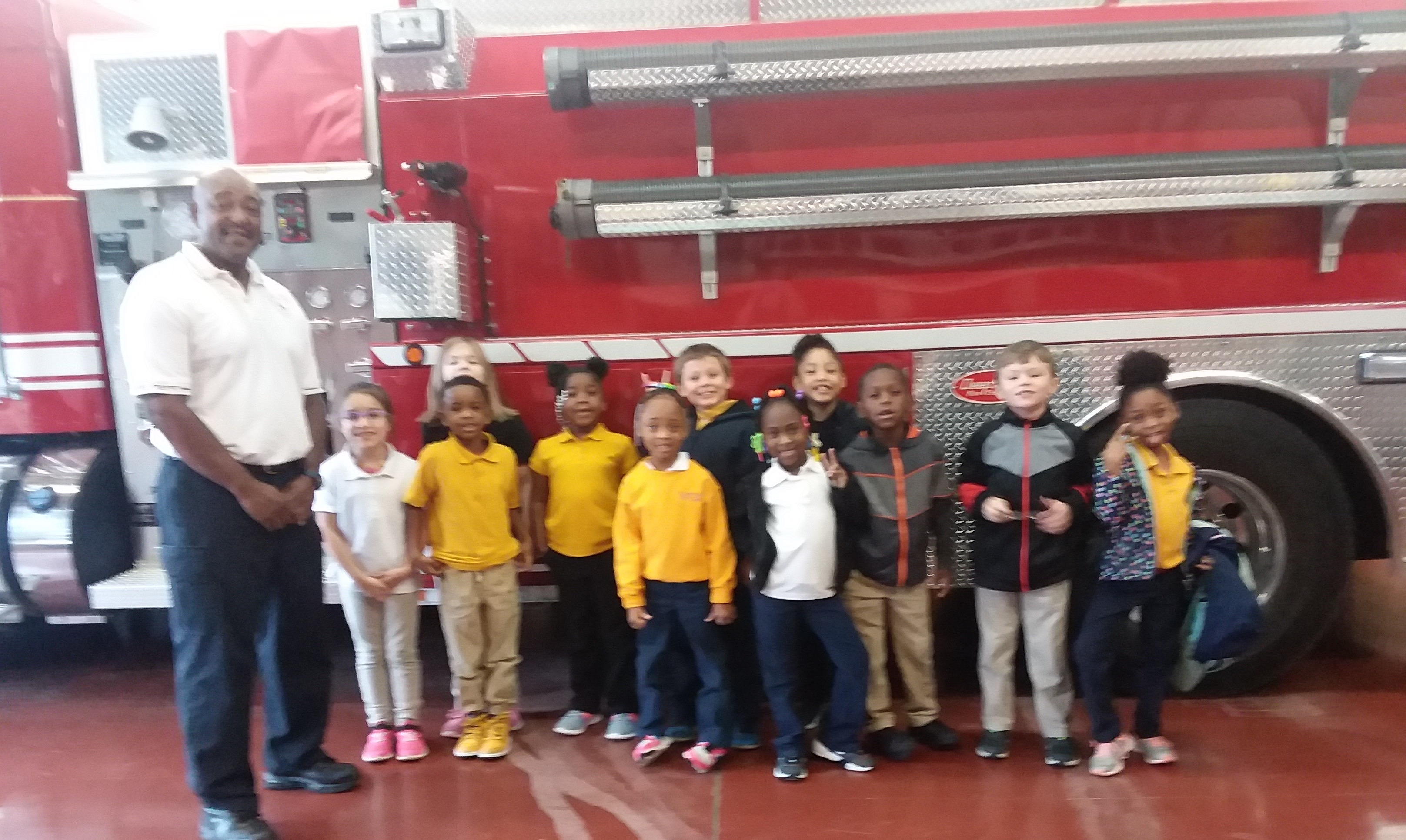 First Grade field trip to Fire Department.
