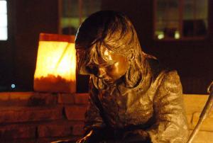 NMSBVI Rose Garden Statue