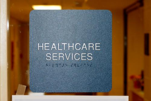 Health Services Door sign