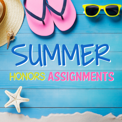 Summer 2021 Honors Assignments