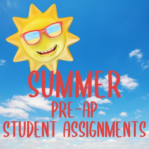 Summer 2020 Pre-AP Assignments