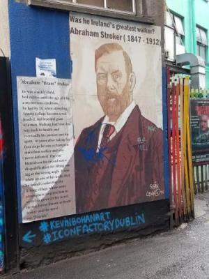 Bram Stoker Street Art-Dublin, Ireland