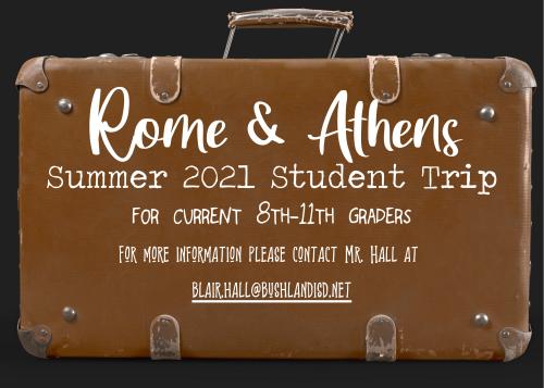 Rome & Athens Trip Information
