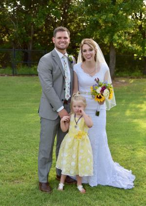 The Groom, Bride, and Flower Princess!