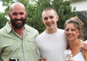 My Little brother Aaron and his new bride and his new stepson