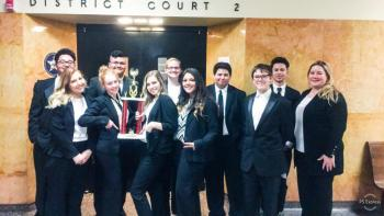 Picture of Legal Team Students at Chappelle Cup in Tulsa.