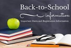 2021-2022 Back to School Information